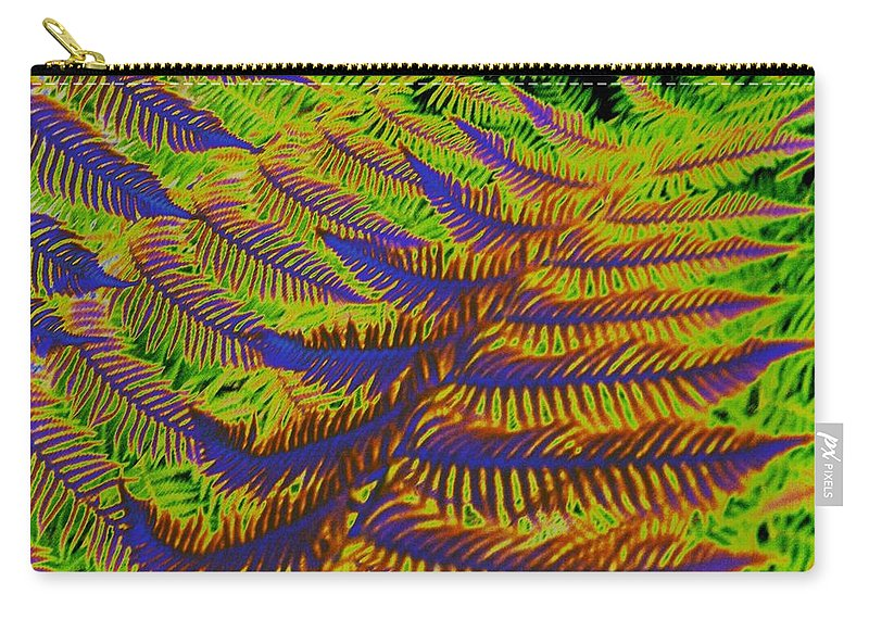 Fern Carry-all Pouch featuring the photograph Mystic Fern by Tim Allen