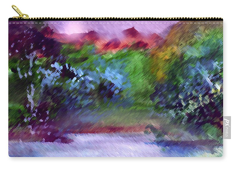 Lake Carry-all Pouch featuring the painting Mystic Lake by Anil Nene