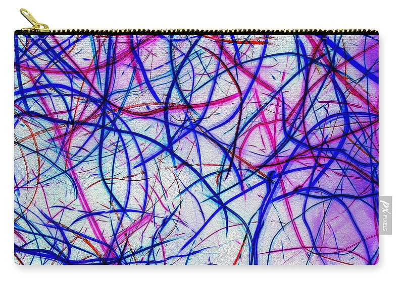 Abstract Carry-all Pouch featuring the digital art Mystic Lights 3 by Donna Corless