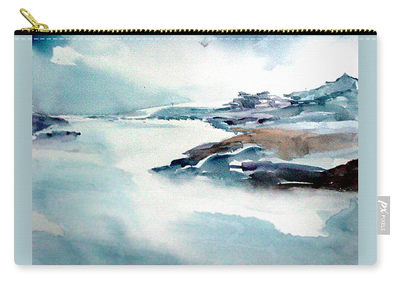 River Carry-all Pouch featuring the painting Mystic River by Anil Nene
