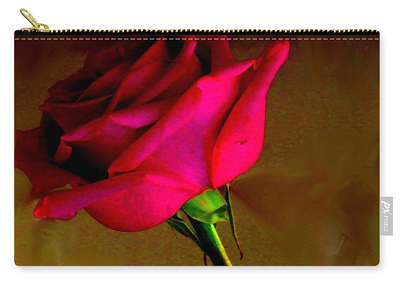 Rose Carry-all Pouch featuring the photograph Mystical Rose by Ian MacDonald