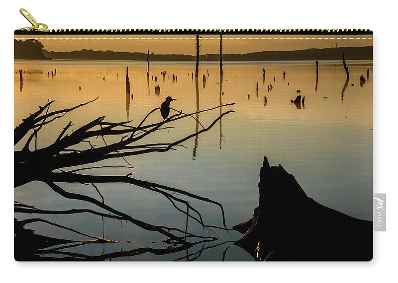 Lake Carry-all Pouch featuring the photograph Mystical Sunrise On The Lake by Tetyana Ohare