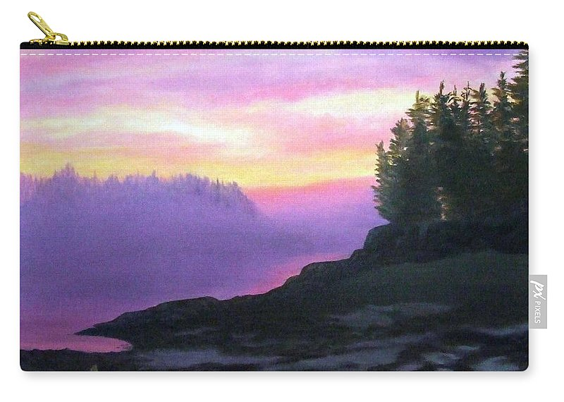 Sunset Carry-all Pouch featuring the painting Mystical Sunset by Sharon E Allen