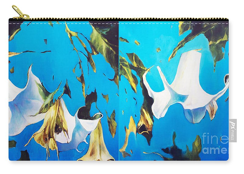 Lin Petershagen Carry-all Pouch featuring the painting Mysticoblue by Lin Petershagen