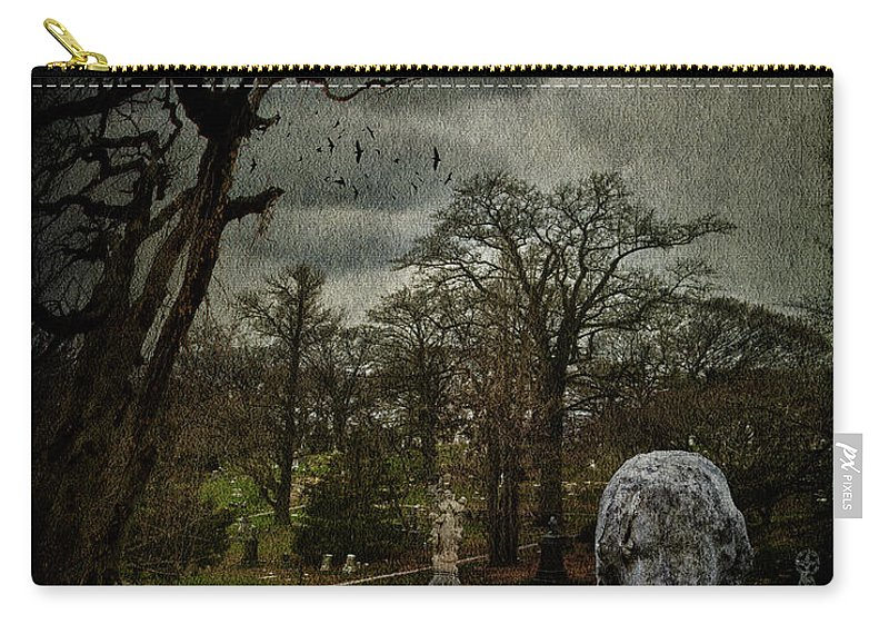 Necropolis Carry-all Pouch featuring the photograph N E C R O P O L I S by Chris Lord