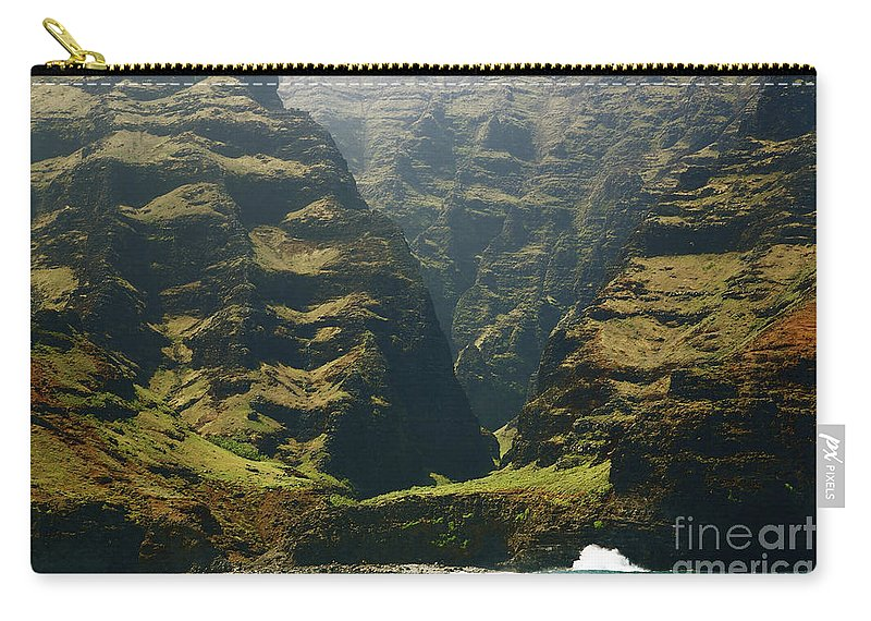Beautiful Carry-all Pouch featuring the photograph Na Pali 1 by Kicka Witte - Printscapes