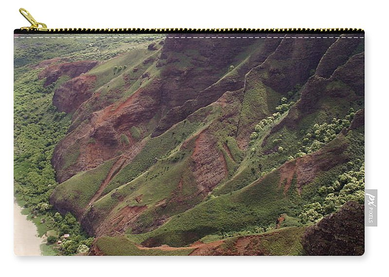 Na Pali Carry-all Pouch featuring the photograph Na Pali Coast by Amy Fose