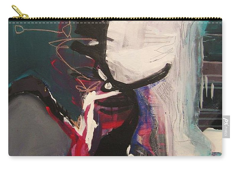 Abstract Art Paintings Carry-all Pouch featuring the painting Nagging Voice by Seon-Jeong Kim