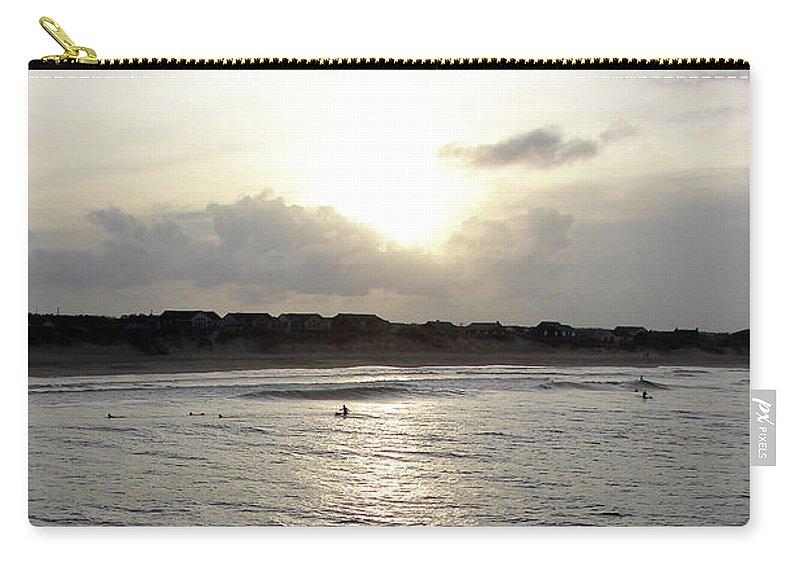 Nags Head Carry-all Pouch featuring the photograph Nags Head Nc Surf by Brett Winn