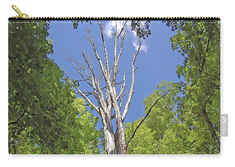 Trees Carry-all Pouch featuring the digital art Naked Amongst Friends by DigiArt Diaries by Vicky B Fuller
