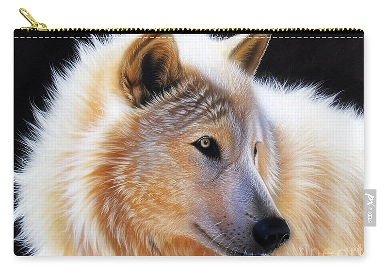 Acrylic Carry-all Pouch featuring the painting Nala by Sandi Baker