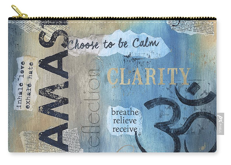 Namaste Carry-all Pouch featuring the painting Namaste by Debbie DeWitt