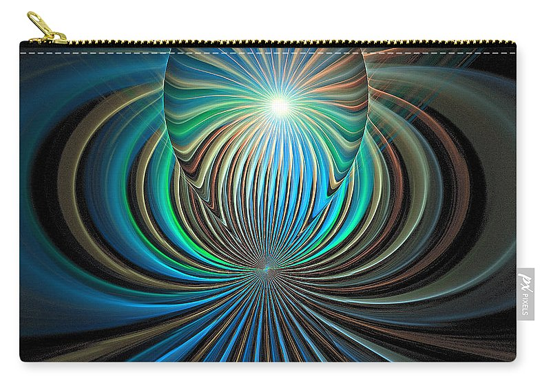 Digital Art Carry-all Pouch featuring the digital art Namaste by Amanda Moore