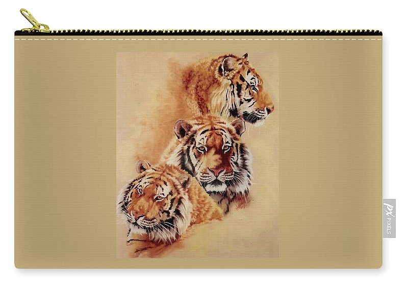 Tiger Carry-all Pouch featuring the pastel Nanook by Barbara Keith