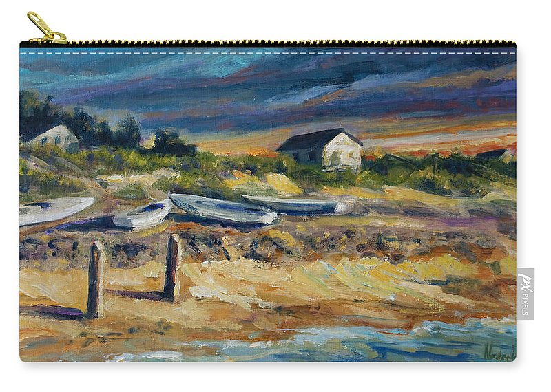 Stormy Clouds Carry-all Pouch featuring the painting Nantucket by Rick Nederlof