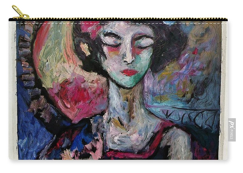 Portrait Carry-all Pouch featuring the painting Naoki by Mykul Anjelo