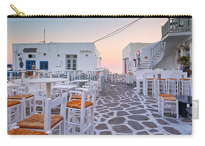 Naousa Carry-all Pouch featuring the photograph naousa 'XXXIII by Milan Gonda