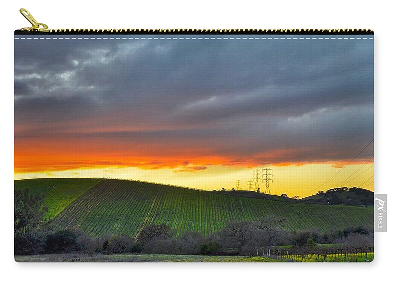 Napa Sunrise Carry-all Pouch featuring the photograph Napa Sunrise by Sagittarius Viking