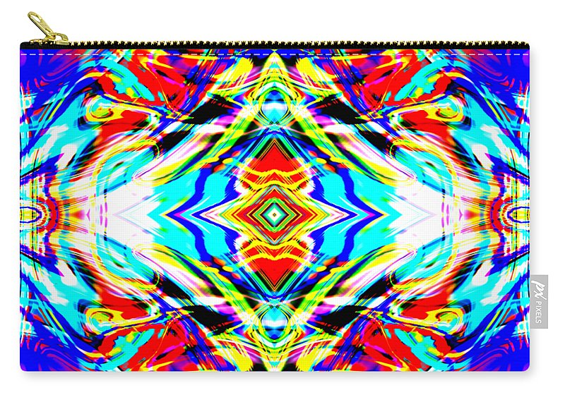 Abstract Carry-all Pouch featuring the digital art Naphod by Blind Ape Art