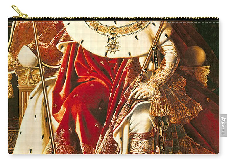 Napoleon Carry-all Pouch featuring the painting Napoleon I On The Imperial Throne by Ingres