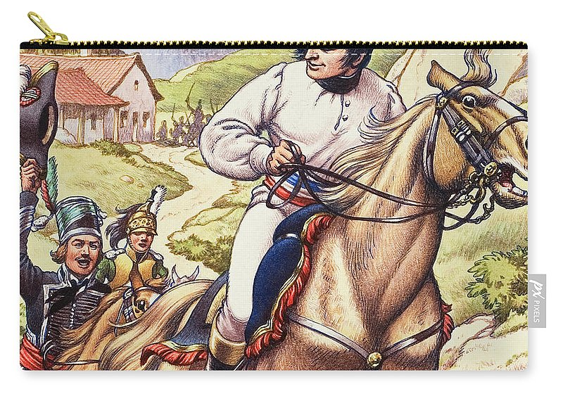 Napoleon Carry-all Pouch featuring the painting Napoleon Making A Narrow Escape With An Austrian Cavalry Patrol Close On His Heels by Pat Nicolle