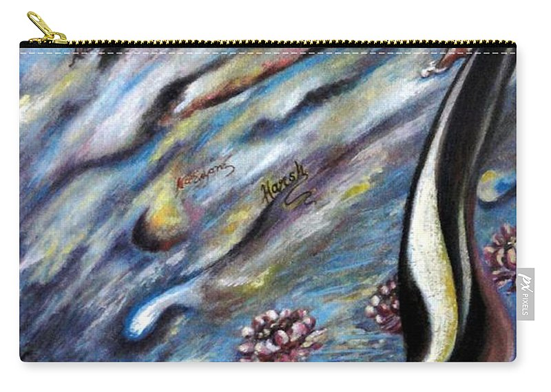 Narad Carry-all Pouch featuring the painting Narada Muni by Harsh Malik