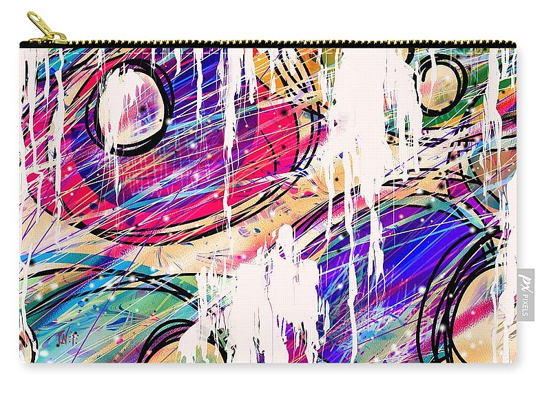 Abstract Carry-all Pouch featuring the digital art Narcotics Of The Mind by Rachel Christine Nowicki