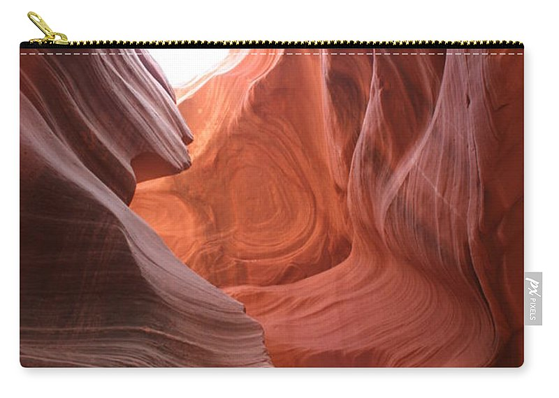 Red Canyon Carry-all Pouch featuring the photograph Narrow Canyon Xvii by Christiane Schulze Art And Photography
