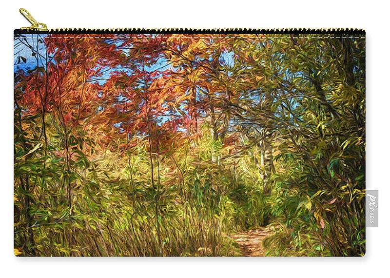 Fall Carry-all Pouch featuring the digital art Narrow Is The Path by John Haldane