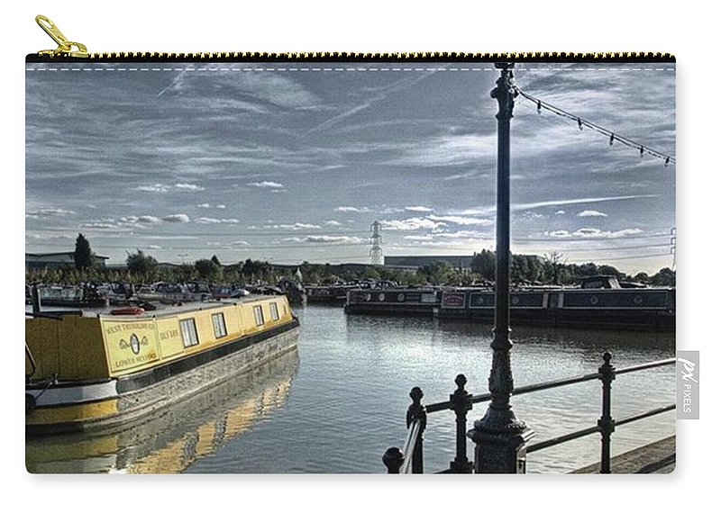Nature Carry-all Pouch featuring the photograph Narrowboat Idly Dan At Barton Marina On by John Edwards
