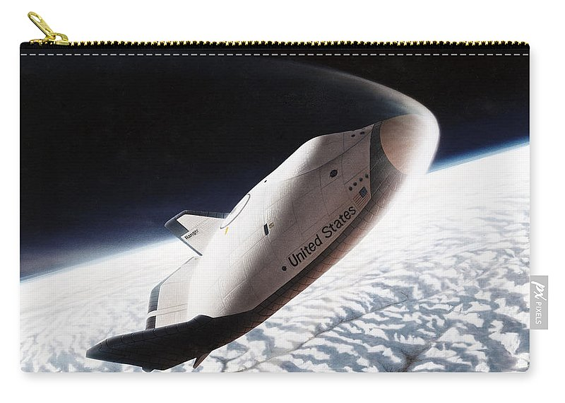 1996 Carry-all Pouch featuring the photograph Nasa: Crew Return Vehicle by Granger