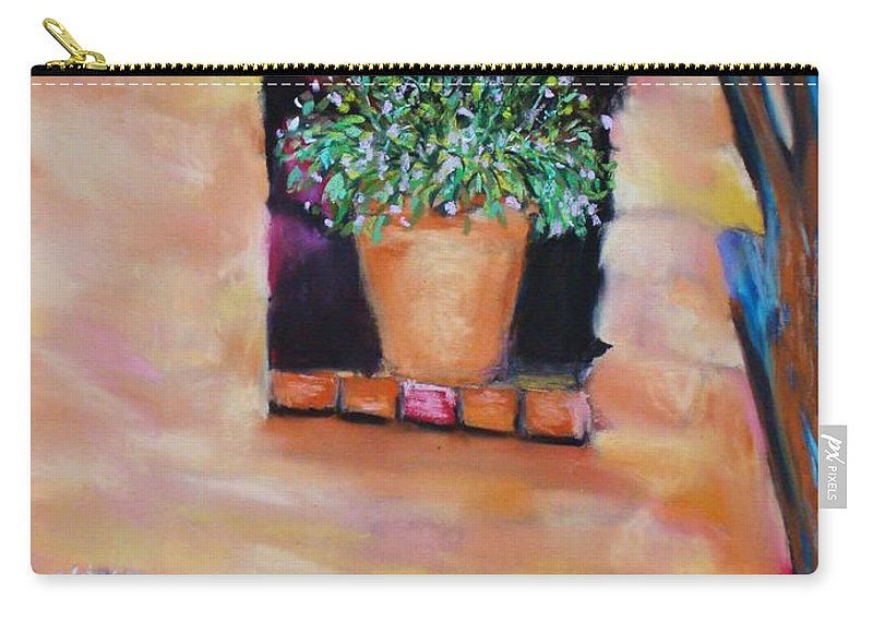 Courtyard Carry-all Pouch featuring the painting Nash's Courtyard by Melinda Etzold