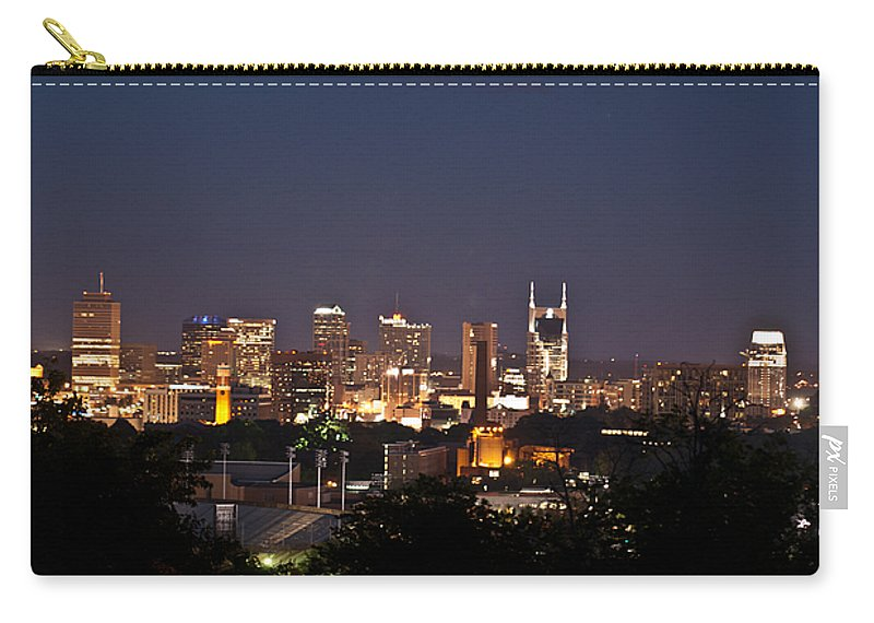 Nashville Carry-all Pouch featuring the photograph Nashville Cityscape 1 by Douglas Barnett