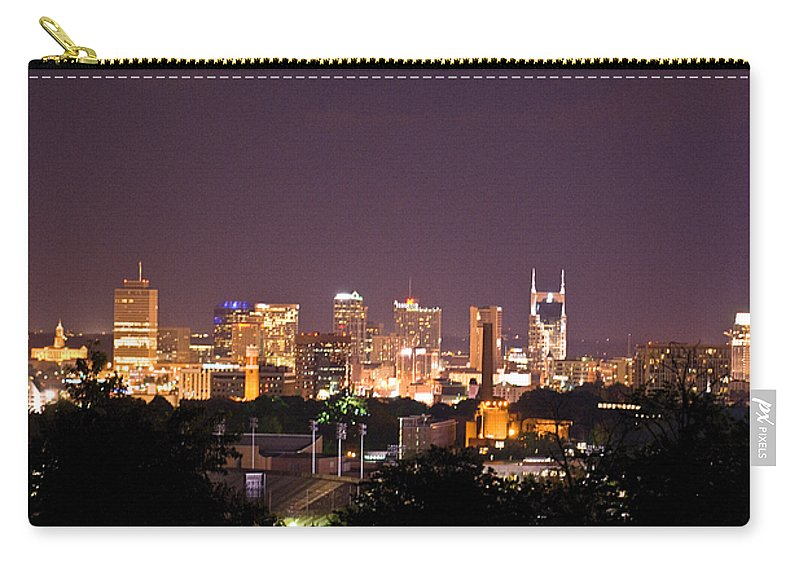 Nashville Carry-all Pouch featuring the photograph Nashville Cityscape 3 by Douglas Barnett