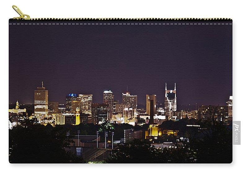 Nashville Carry-all Pouch featuring the photograph Nashville Cityscape 4 by Douglas Barnett