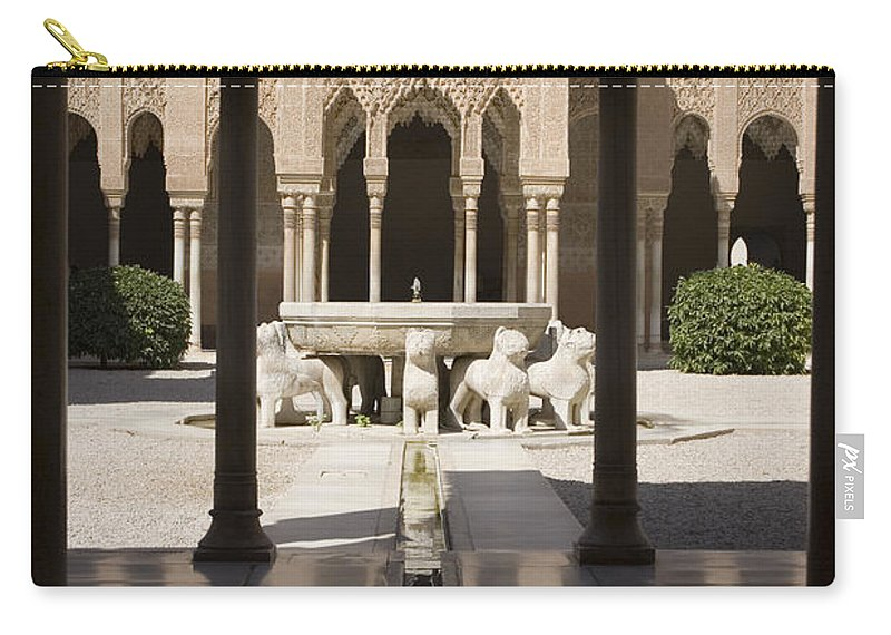 Alhambra Carry-all Pouch featuring the photograph Nasrid Palaces Alhambra Granada Spain Europe by Mal Bray