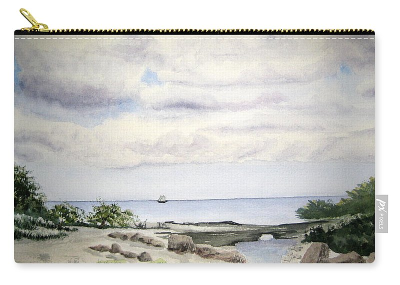 Natalie Carry-all Pouch featuring the painting Natalie's Beach by Julia RIETZ
