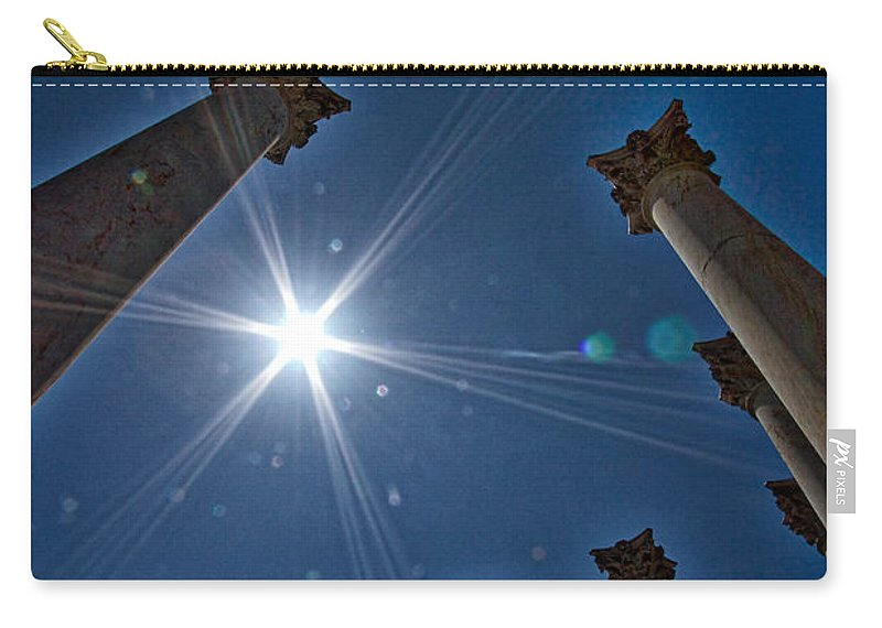 Arboretum Carry-all Pouch featuring the photograph National Capitol Columns #2 by Stuart Litoff