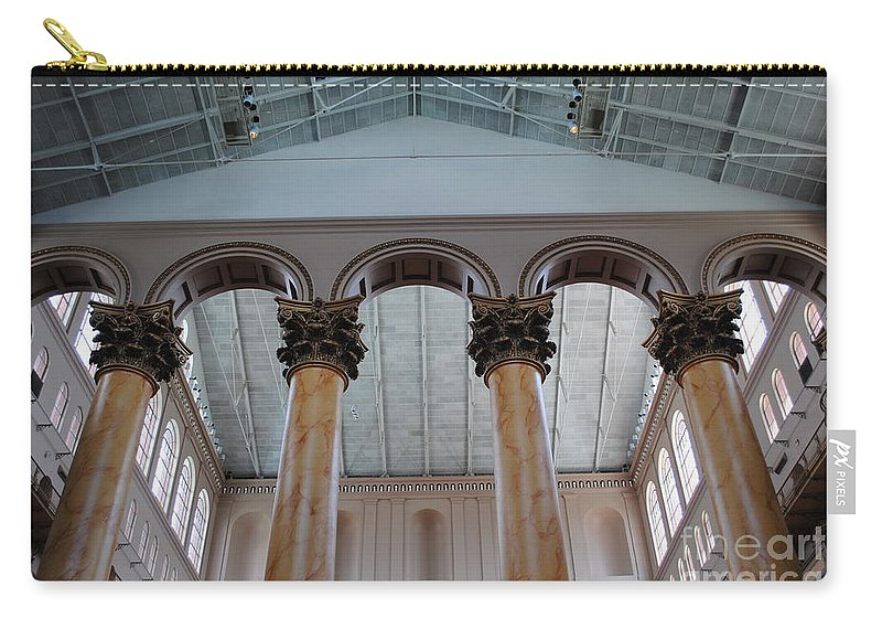 National Carry-all Pouch featuring the photograph National Columns by Jost Houk