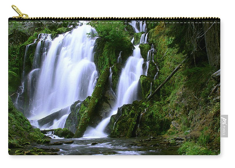 Waterfall Carry-all Pouch featuring the photograph National Creek Falls 02 by Peter Piatt