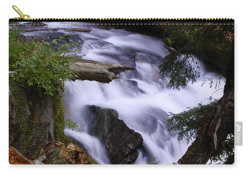 Waterfall Carry-all Pouch featuring the photograph National Creek Falls 03 by Peter Piatt