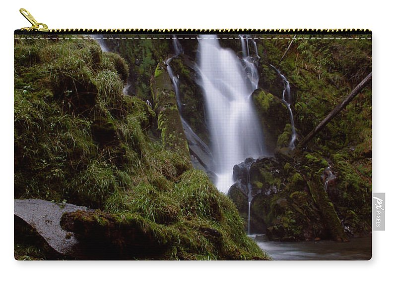 Waterfall Carry-all Pouch featuring the photograph National Creek Falls 04 by Peter Piatt