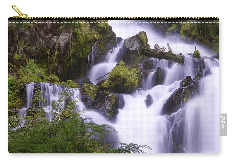 Waterfall Carry-all Pouch featuring the photograph National Creek Falls 05 by Peter Piatt