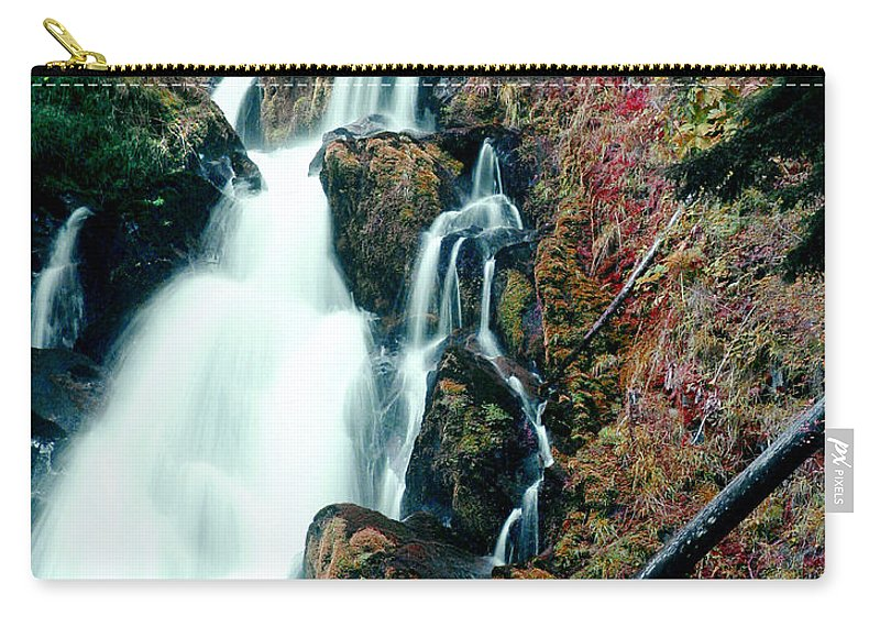 Waterfall Carry-all Pouch featuring the photograph National Creek Falls 07 by Peter Piatt