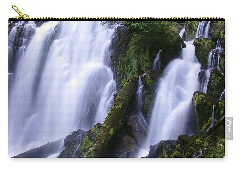 Waterfall Carry-all Pouch featuring the photograph National Creek Falls 09 by Peter Piatt