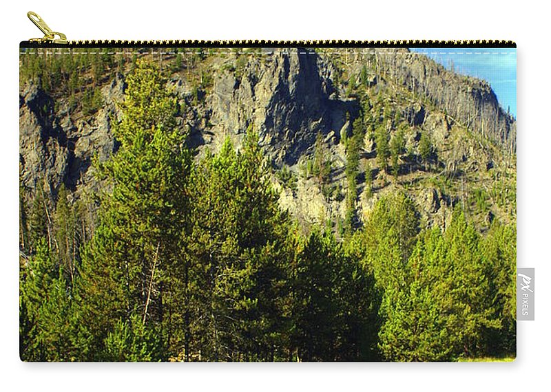 Yellowstone National Park Carry-all Pouch featuring the photograph National Park Mountain by Marty Koch