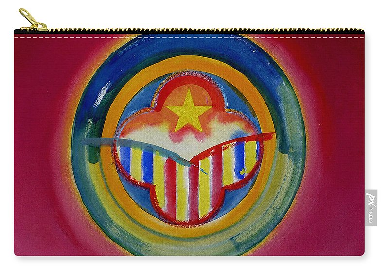 Button Carry-all Pouch featuring the painting Native American by Charles Stuart
