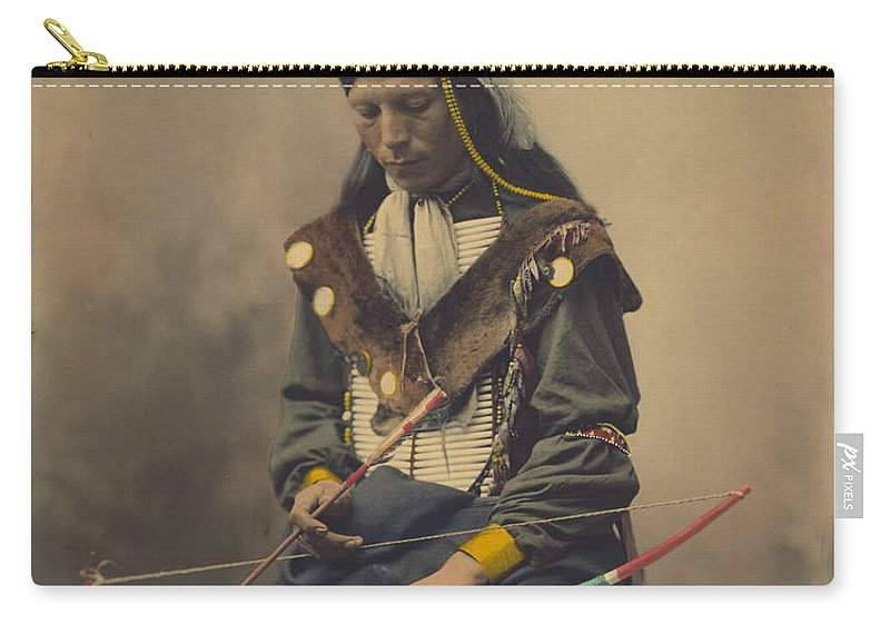 Old Carry-all Pouch featuring the photograph Native American by FL collection