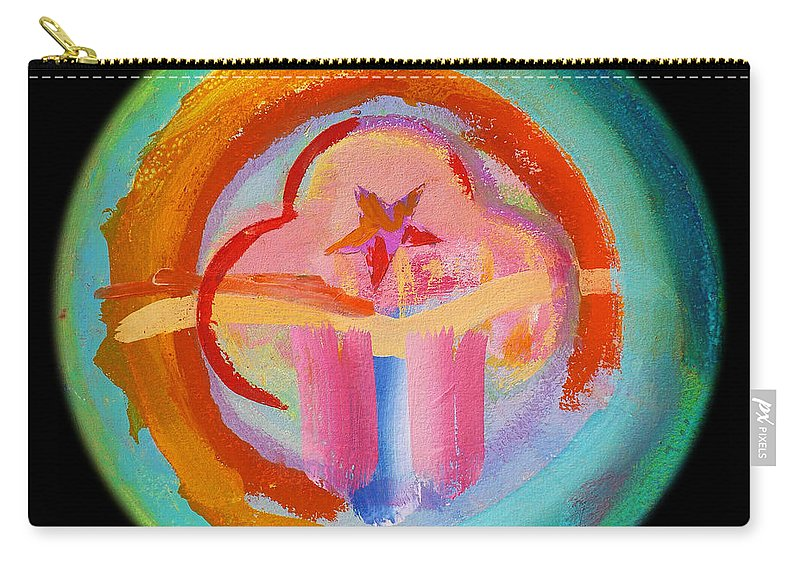 Carry-all Pouch featuring the painting Native American Plate by Charles Stuart