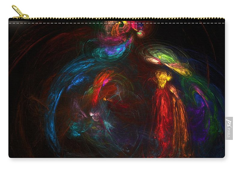 Fine Art Carry-all Pouch featuring the digital art Nativity by David Lane